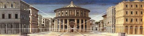 Single point perspective was critical to the way Renaissance architects and thinkers conceptualized space