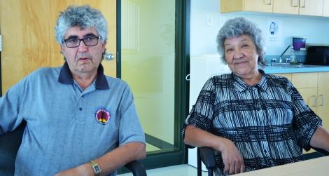 Elizabeth elders Archie Collins and Lydia Cardinal
