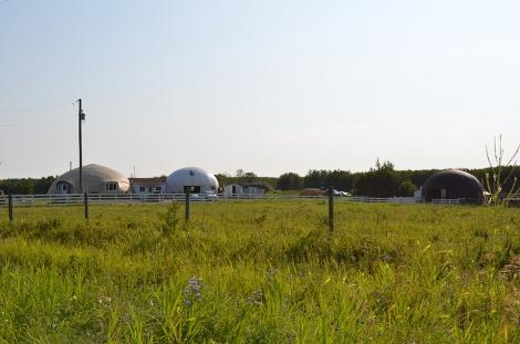 Elizabeth Evans' concrete-dome house and structures at Elizabeth settlement