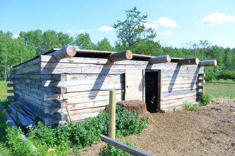 Timber animal shelter