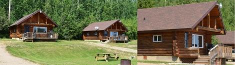 Log cabins at Kikino Resort