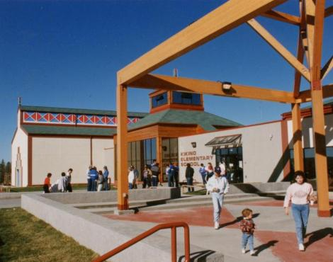 Early image of the school entry (courtesy of Bruce Koliger)