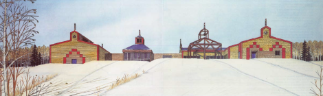 Early rendering for the school (courtesy of Bruce Koliger)