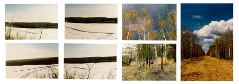 Inspirational photos taken by design architect Yoshi Natsuyama, including image of his tent where he camped for a number of days while learning more about Kikino's history and Métis culture