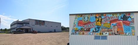 buff lake comm centre mural