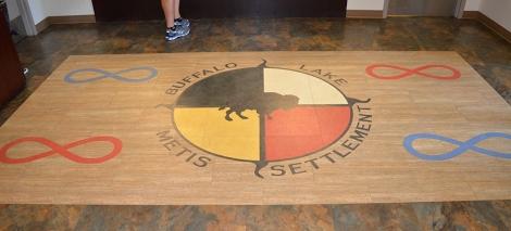 Buff Lake logo on floor