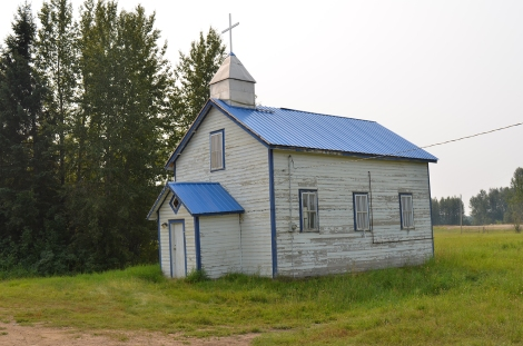 Abandoned church at East Prairie