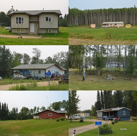 Typical housing at Gift Lake Settlement