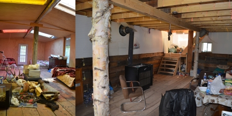 Interior of Muskeg House at East Prairie