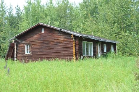 log abandomed house