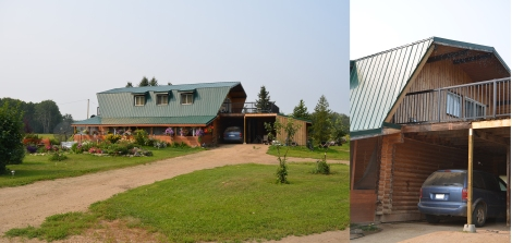 Contemporary log home on East Prairie Settlement