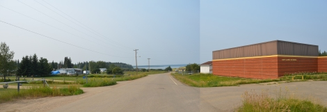 Relationship between lake and community (former school on right)