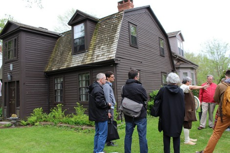 David at the de Gannes-Cosby residence in Annapolis Royal, built in 1708.