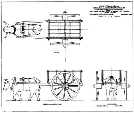 Drawing of the Red River Cart (Image Source)