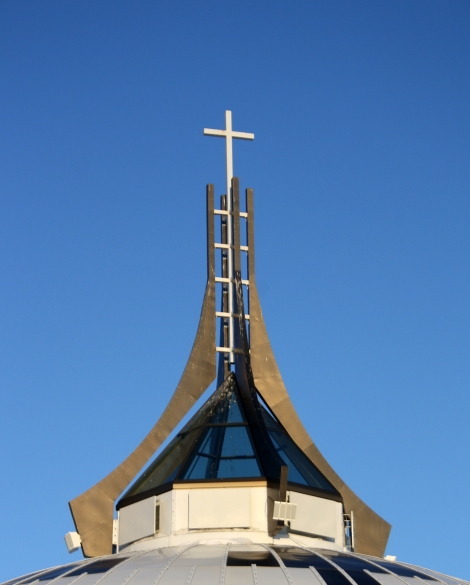 Lantern atop St. Judes Cathedral, Iqaluit. (Photo courtesy of H. Burdett-Moulton).