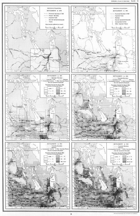 1870-1921 Settlement Patterns Manitoba